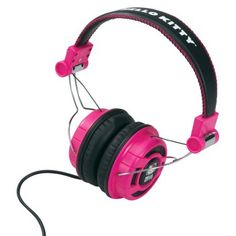 Hello Kitty Foldable Over-the-Ear Headphones - Pink/Black (KT2091MBY)