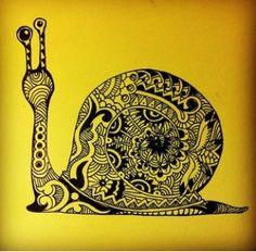 Snail Zentangle