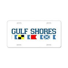 Gulf Shores - Alabama. Aluminum License Plate