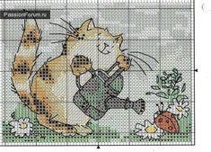 Gatti. PARTE 2 / Schemi di ricamo / Cross Stitch