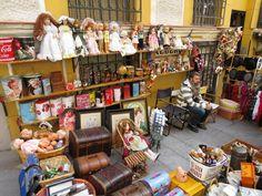 dolls in a flea market in Madrid
