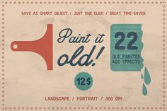 Graphic Design - Graphic Design Ideas  - Paint it old! by Guerillacraft on Creative Market   Graphic Design Ideas :     – Picture :     – Description  Paint it old! by Guerillacraft on Creative Market  -Read More –