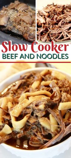 Slow Cooker Beef and Noodles Do you need dinner meal ideas for the busy weeks ahead? This slow cooker beef and noodles easy recipe can feed a crowd! It can be paired with your. Beef And Noodles Crockpot, Crockpot Dishes, Healthy Crockpot Recipes, Crockpot Meals, Slow Cooker Beef, Slow Cooker Recipes, Slow Cooking, Food For A Crowd, Meals For A Crowd
