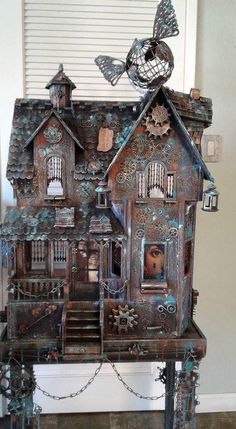 Steampunk dolls house - why be conventional?  https://minimumworld.com/