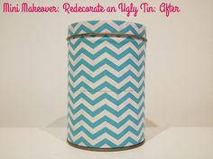 Mini Makeover: Redecorate an Ugly Holiday or Novelty Tin via Style for a Happy Home. A great rainy day activity!