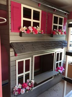 Layla's Dollhouse Loft Bed, Play Area Underneath. Options Include Bunk Bed Version, Storage Trundle, Slide & Stairs w/ Built-in Storage. Benjamin Moore, Trundle Bed With Storage, Built In Storage, Bunk Beds With Stairs, Kids Bunk Beds, Stair Slide, Stair Plan, Kura Bed, Color Changing Led