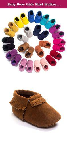 559ed1c9119 Baby Boys Girls First Walkers Tassel Soft Non-slip Crib Shoes Moccasin  Sandal (11cm