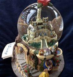 Beautiful RARE Walt Disney Beauty and The Beast Musical Snowglobe | eBay