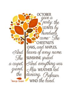 Free printable for Autumn.....would be beautiful in a frame!
