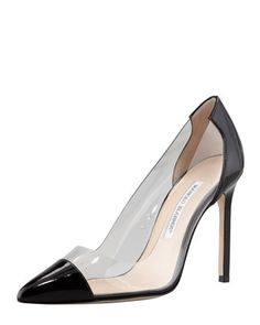Friday, February 14th: Manolo Blahnik Pacha Clear PVC-Patent Pump, 212 872 8940