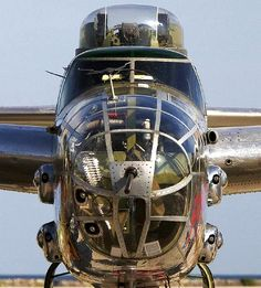 B-25 face to face