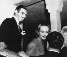 Clark Gable and Carole Lombard, press conference after their wedding