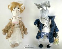 048 Mrs and Mr Horse in a coat  Amigurumi Crochet door LittleOwlsHut