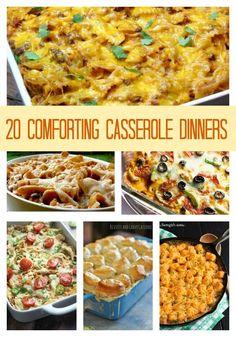 20 Comforting Casserole Dinners x