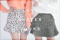 Flared Leopard Print Skirt