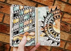 Rebecca Blair moleskine sketchbook #sketching #patterns #drawing