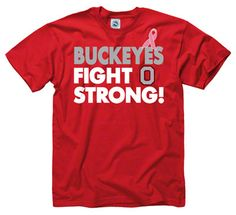 Ohio State Buckeyes Breast Cancer Awareness Fight Strong T-Shirt Ohio State Jerseys, Ohio State University, Ohio State Buckeyes, College Football Teams, Sports Fan Shop, Breast Cancer Awareness, Ashley Rivera, Strong