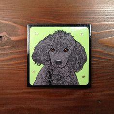 Pop Art Black Poodle Personal Tile Coaster by Sabyloo on Etsy, $25.00