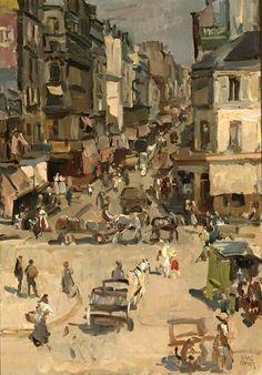 """""""Les Rues de Paris"""", Isaac Lazarus Israëls (Amsterdam 1865-La Haye 1934). #impressionism #Israels #Paris"""