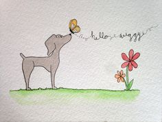 Weimaraner Greeting Cards by HelloBel on Etsy