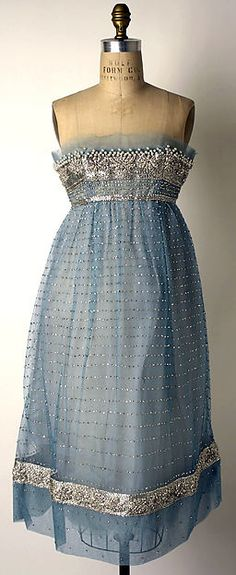 House of Dior (French, founded 1947) Designer: Yves Saint Laurent (French (born Algeria) Oran 1936–2008 Paris) Date: fall/winter 1958–59 Culture: French Medium: nylon, rhinestones (strass), simulated pearls