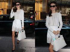 Miranda Kerr: look total white en Sidney [FOTOS] Miranda Kerr, Lace Skirt, White Dress, Style Inspiration, Skirts, Rocks, Dresses, Vestidos, Winter
