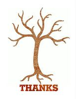 Thanksgiving tree and leaves printable