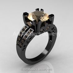 Modern Vintage 14K Black Gold 3.0 Carat Champagne by artmasters, $2249.00