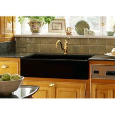 Advantage 3.2 Primrose Black Apron Front Single Bowl Kitchen Sink