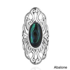 Shop for Handmade Vintage Filigree Swirl Beauty Oval Sterling Silver Ring (Thailand). Get free delivery On EVERYTHING* Overstock - Your Online Jewelry Destination! Marcasite Jewelry, Gemstone Jewelry, Diamond Jewelry, Turquoise Jewelry, Silver Jewelry, Jewlery, Green Gemstones, Fashion Rings, Boho Fashion