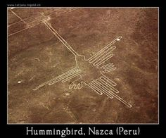 This is my personal symbol, from the Nazca--a messenger from the mountain gods