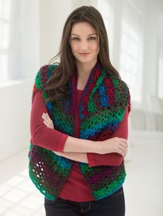 To make a bigger size you need to make the front and back bigger.  Three Easy Pieces Wrap looks easy to make and to wear.
