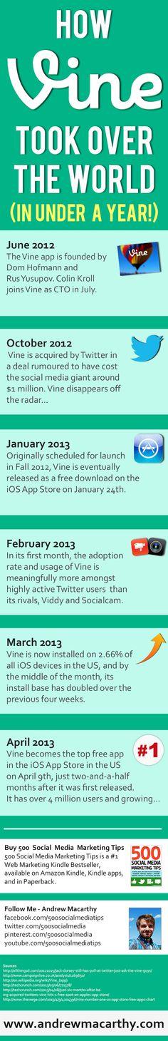 How Vine Took Over the World [INFOGRAPHIC] #socialmedia #vine via @500 Social Media Marketing Tips