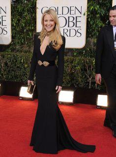 Kate Hudson golden globes 2013 Alexander McQueen