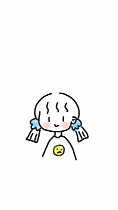 Mini Drawings, Anime Girl Drawings, Kawaii Drawings, Anime Art Girl, Pretty Art, Cute Art, Wallpaper Wa, Chibi Sketch, Simple Anime