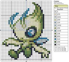 251 - Celebi by Makibird-Stitching.deviantart.com on @deviantART