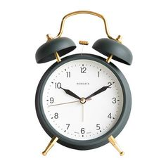 Twin Bell Alarm Clock in Velvet Green