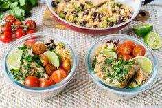 Eat Clean Cilantro Lime Chicken Cauliflower Rice