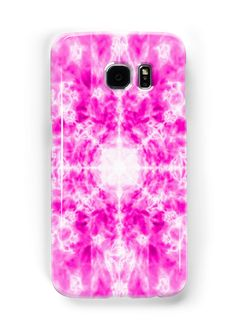 Colourful pink kaleidoscope background pattern on a white background • Also buy this artwork on phone cases, apparel, stickers, and more.