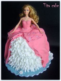 Barbie cake by hrisiv, via Flickr