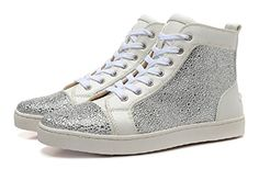 White Leather Silver Rhinestone Women High Sneakers (6.5 ... https://www.amazon.com/dp/B06Y2JH8C1/ref=cm_sw_r_pi_dp_x_5xggzbV2B8MB2
