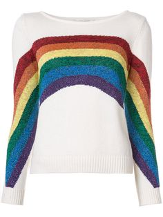 f526caf4f866e Shop Marc Jacobs Rainbow knitted top. Rainbow Sweater, Metallic Top, Long  Sleeve Shirts