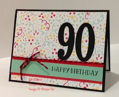 Jills Card Creations Happy 90th Birthday Cards Sayings