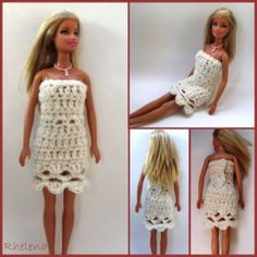 "Scalloped Fashion Doll Dress ~ easy/advanced BEGINNER ~ fits fashion doll 11.5"" ~ FREE - CROCHET"