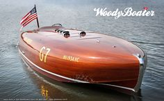 EHTYL-RUTH IV 1934 HACKERCRAFT GOLD CUP RACE BOAT - DANE ANDERSON PHOTO