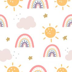 Rainbow And Stars Seamless Pattern On Purple Background. Watch Wallpaper, Flower Phone Wallpaper, Rainbow Wallpaper, Kids Wallpaper, Wallpaper Iphone Cute, Aesthetic Iphone Wallpaper, Cute Wallpapers, Cute Patterns Wallpaper, Background Patterns