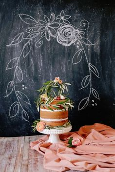 Swooning over this cake display.