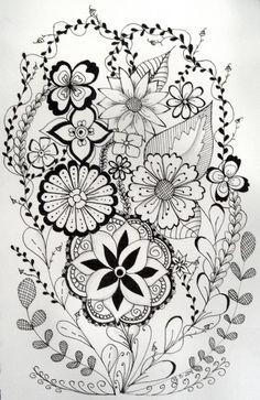 flowery zentangle