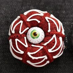 Our deliciously haunting eyeball cupcakes may be spooky to look at but are certain to become a focal point at your holiday party: http://www.bhg.com/halloween/recipes/17-frightfully-good-halloween-cupcakes/?socsrc=bhgpin083014redvelveteyeball&page=19