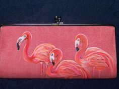 Items similar to Flamingo Clutch on Etsy Flamingo Outfit, Flamingo Art, Pink Flamingos, Pretty Birds, Beautiful Birds, Pretty In Pink, My Favorite Color, My Favorite Things, Pink Bird